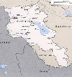 Карта армении на английском языке