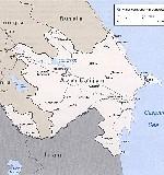 Карта азербайджана на английском