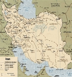 Административная карта ирана на